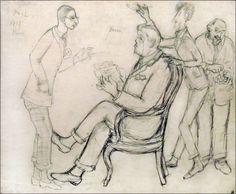 Igor Stravinsky, Serge Diaghilev, Jean Cocteau, Erik Satie