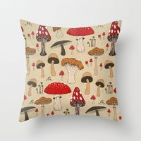 Mushrooms Throw Pillow by Lynette Sherrard Illustration and Design My New Room, My Room, Mushroom Decor, Room Ideas Bedroom, Aesthetic Bedroom, Room Themes, Down Pillows, Decoration, Pillow Inserts