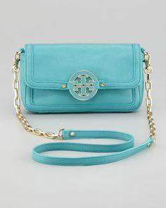 Tory Burch Amanda Mini Crossbody Bag, Turquoise - Neiman Marcus-Have & Love