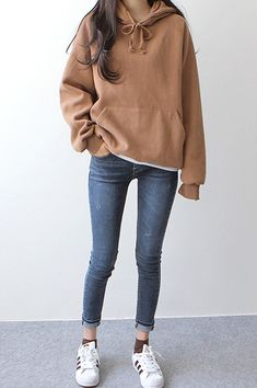 Cozy lazy day outfits for school in Fall