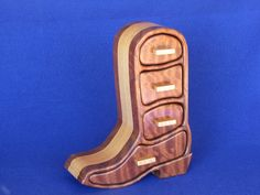Cowboy Boot Jewelry Box by DesignerWoodsBoxes on Etsy, $125.00