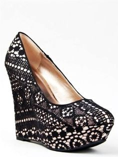 Vintage High Heel Shoes for Women - Lace High Heel Shoes for Women