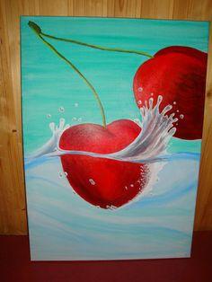 Bettys Kunst und Tortenwelt: Acrylmalerei von Bettina Schweiger Canvas Frame, Kunst