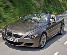 A stylish BMW convertible car. must be white and hard top convertible and i'll take it! Bmw Autos, Car Images, Car Photos, Car Pictures, My Dream Car, Dream Cars, Bmw Cabrio, Bmw M6 Convertible, Diesel