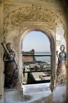 Lake Pichola from Udaipur Palace ,Udaipurwati, India