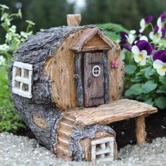 Gardening Diy Hidden Hollow Fairy House for Miniature Garden Fairy Garden - Fairy Crafts, Garden Crafts, Garden Projects, Garden Ideas, Garden Fun, Fairy Gardening, Garden Types, Container Gardening, Meadow Garden