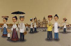 Galerie Francesca (Megamall) - Filipiniana Revisited (Lanuza and Rubio Show) - Photo of 7 Filipino Art, Philippine Art, Filipiniana, Show Photos, Pinoy, In This Moment, Eyes, Wall, Artist