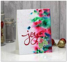 Joy, handmade Christmas Card by Jen Shults More More