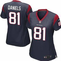 Owen Daniels Jersey Houston Texans #81 Women Navy Limited Jersey Nike NFL Jersey Sale