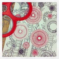 Beautiful drawing created with the Spirograph Cyclex, by Child's Play Toys in Portland, OR.