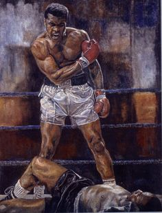 Stanley Silver paints beautiful custom portraits and collages of beloved athletes & celebrities, as one of the talented artists at Kevin Barry Fine Art. Boxing, Ali, Fine Art, Portrait, Artist, Painting, Headshot Photography, Artists, Painting Art