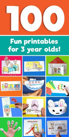 100 Fun printables to do with a 3 year old