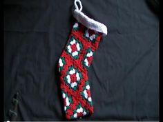 Christmas Stocking Crochet Mini Tutorial