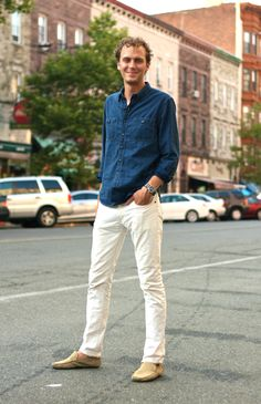 Style and Pepper: Guy Style // White Denim