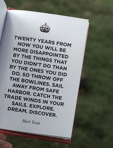 "So true... Twenty years from now, I don't want to be saying ""Twenty years ago..."""