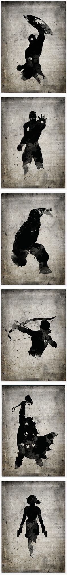 Avengers posters by Marcus Mok
