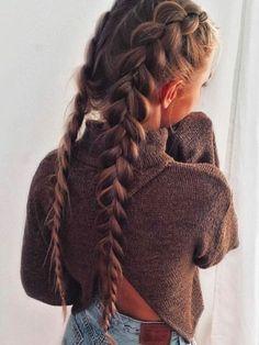 braided hairstyles for black women;braided hairstyles for long hair;braided hairstyles for black hair kids;braided hairstyles for short hair; Side Braid Hairstyles, No Heat Hairstyles, Girl Hairstyles, Hairstyle Ideas, Black Hairstyles, Casual Hairstyles For Long Hair, Simple Hairstyles, French Plait Hairstyles, Medium Hairstyles