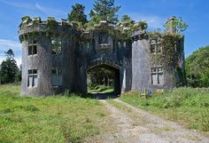 Abandoned Gatehouse, Castlelohort Demesne, Roskeen, Cork, Ireland. Man, it even looks like it had a large fireplace on the one side.