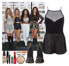 5th member of Little Mix - Hallam summerlive by elliefeatherstone on Polyvore featuring polyvore fashion style Witchery Miss Selfridge Dr. Martens Rimmel Bobbi Brown Cosmetics shu uemura Lord & Berry clothing