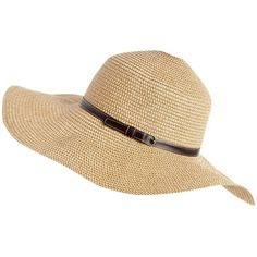 Natural belted sun hat ($11) ❤ liked on Polyvore featuring accessories, hats, hair accessories, headwear, women's clothing, beach hats, wide hat, floppy hat, sun hat and melissa odabash