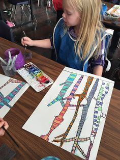 Mrs. Harris' art room: kindergarten patterns/textured trees