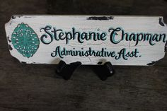 Personalized Custom Made Hand Painted 3x9 by TouchOfJoyDesigns