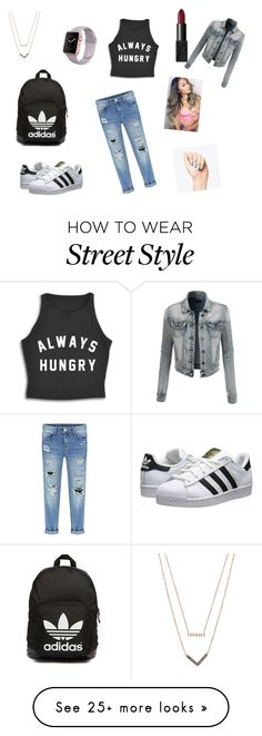 """My street style"" by bnielah on Polyvore featuring adidas Originals, Michael Kors, NARS Cosmetics and LE3NO"