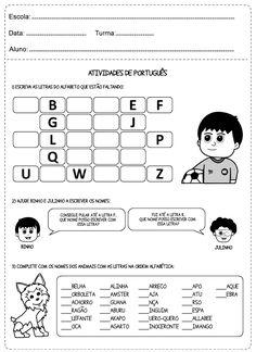 Educar X: Atividades de português para o 1° ano do ensino fundamental