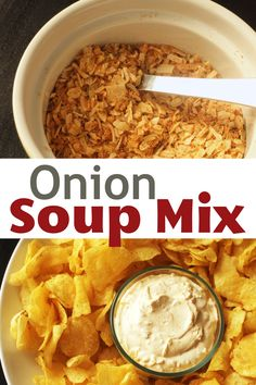 Make your own homemade dry onion soup mix to keep on hand to flavor dips and main dish recipes. With a few pantry staples, you can save money on homemade convenience. Sour Cream Dip, Sour Cream And Onion, Soup Mixes, Spice Mixes, Food Dishes, Main Dishes, Homemade Onion Soup Mix, Appetizer Dips, Convenience Food