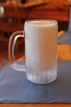 An icy glass of milk in the morning = perfection.
