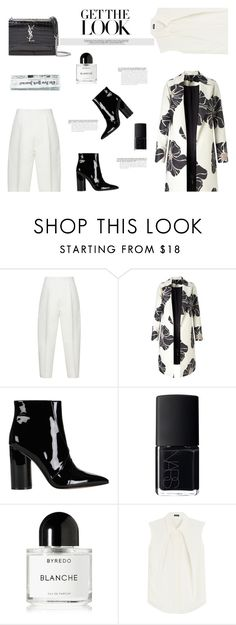 """""""FLORAL COAT AT OFFICE"""" by canvas-moods ❤ liked on Polyvore featuring Marni, Sigerson Morrison, NARS Cosmetics, Byredo, Jil Sander Navy and Yves Saint Laurent"""