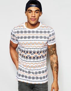 Image 1 of ASOS T-Shirt With Aztec Print