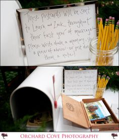 What a romantic idea for the wedding and something special to read for the newlyweds!  <3