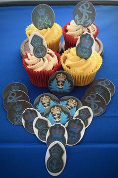 Wrens hat badges   as edible cake toppers
