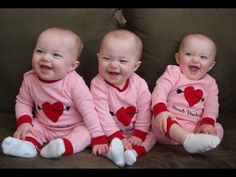 Funny Triplet Babies Laughing Compilation 2014 [NEW HD] - YouTube