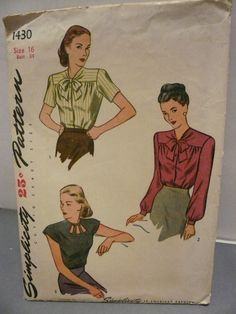 Antique Simplicity Pattern 1430 Misses by VintagePatternDrawer, $12.95