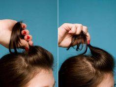 fazer penteado com topete