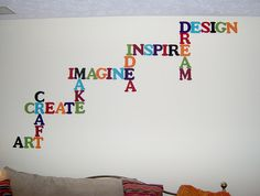 Inspiring Wall Word Art Decorations: Wall Word Art