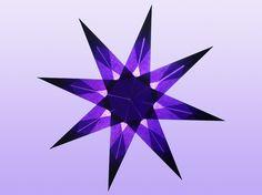 8 Zackiger violetter Stern