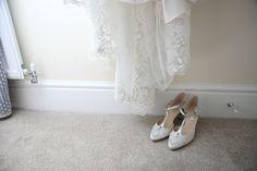 Rachel Simpson shoes at The Granary Barns wedding, Suffolk