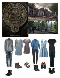 District 12 by lj-case on Polyvore featuring polyvore, fashion, style, Joie, Somerset by Alice Temperley, MANGO, Woolrich, American Eagle Outfitters, Paige Denim, MKT studio, yeswalker, Dr. Martens, Miz Mooz, Ollio, Timberland, Steve Madden, J Brand and clothing