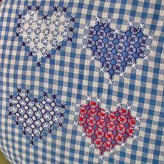 chicken scratch embroidery- Bordado Español