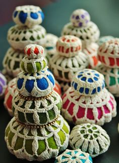 "AMAZING ""Pincushions"" by woolly  fabulous...I couldn't begin to pin all the beautiful things here!"