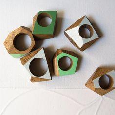 Reclaim wood rings #handmadejewelry #handmade #sustainable #reclaimedwood #ring #jewellery Wood Cut, Wood Rings, Napkin Rings, Handmade Jewelry, Jewellery, Home Decor, Wooden Rings, Jewels, Schmuck