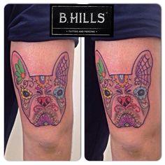#MexicanDog #Dog #Pug #Traditional #Tattoo #ink #Art #Bhillstattoo #LadyOktopus #tattooartist #cittadella