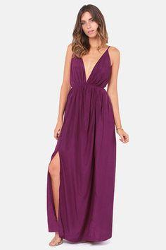 Titania's Woods Backless Purple Maxi Dress // Lulu's