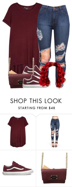 """""""I'm Just In Love With Maroon❤️ ."""" by clinne345 ❤ liked on Polyvore featuring Vince, Vans and Michael Kors"""