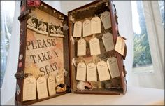 Vintage suitcase seating plan | Italian Wedding Photography & Videography - Alfonso Longobardi