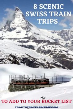 A selection of 8 beautiful train trips to take in Switzerland including the Bernina Express and Glacier Express. These Swiss rail journeys are perfect to add to any travel itinerary. #Switzerland #railway #trains Europe Train Travel, Europe Travel Guide, Africa Travel, Travel Destinations, Travel Tips, Austria Travel, Norway Travel, Spain Travel, Lithuania Travel