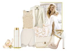 """""""chic and white"""" by donnaelvira ❤ liked on Polyvore"""